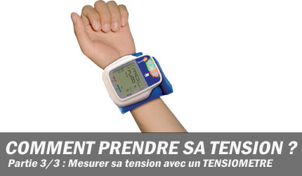 prendre sa tension via un tensiometre automatique